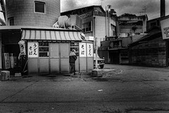 Street (364)A402 (soyokazeojisan) Tags: japan osaka city street 新世界 通天閣 people bw blackandwhite monochrome analog olympus m1 om1 28mm trix film kodak memories 1970s