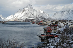 Wonderful Reine (Aerisabel) Tags: reine cod lofoten landscape mountain snow fiordo norway travel winter