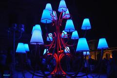 Les lustres (MichelC+) Tags: lyon bleu couleurs fêtedeslumières