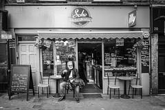 Morning coffee, Soho (gwpics) Tags: exterior citylife man urban england london streetscene cafe british urbanlife streetphotography soho people mono uk english coffeehouse editorial everydaylife lifestyle male men monochrome outdoors outside person society unitedkingdom blackandwhite cityliving street streetlife