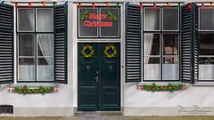 Merry Christmas (DDD/TDD) (BraCom (Bram)) Tags: 169 bracom bramvanbroekhoven ddd goereeoverflakkee holland lion nederland netherlands sommelsdijk southholland tdd zuidholland blinds deur door doorbel glas glass gordijn intrantipacemexeutisalutem leeuw lock luiken slot widescreen window