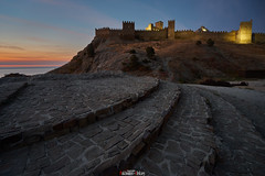 Under the walls of the Genoese fortress (zaxarou77) Tags: architecture color travel fortress walls genoese sudak crimea russia dawn city landscape outdoor night архитектура цвет рассвет крепость генуэзская пейзаж город утро ночь крым россия судак sony sonyclub ilce a7 a7m2 a7mii markii carl zeiss 1635 1635mm f4 sel fe fe1635f4za