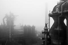 Fog (Robin Kelderman) Tags: blackandwhite industry industriekultur industrie duisburg germany deutschland