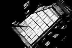 patio (heinzkren) Tags: schwarzweis blackandwhite monochrome biancoetnero noiretblanc architecture architektur austria vienna wien glass glas glasdach windows fenster lines canon canonr eos eosr roof glassroof pattern structures