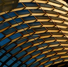 Abstract Architecture (2n2907) Tags: abstract architecture steel beams structure trusses interior arcs arches curves