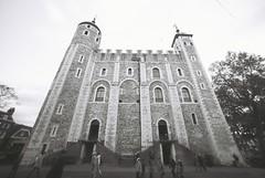 White Tower (goodfella2459) Tags: nikonf4 afnikkor14mmf28dlens ilfordpanfplus50 35mm blackandwhite film analog london building history tree whitetower toweroflondon bwfp oldandbeautiful