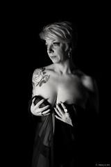 Annie (henrychristo27 (Christophe)) Tags: sensuality lowkey blackandwhite women sensuelle clairobscur glamour studio portraiture