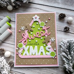 sweet hap-pea Christmas (Cicasi) Tags: cardmaking christmascard handmadecard happea lawnfawn lawnfawnatics