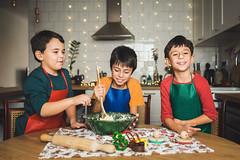 Cookies monsters... (karolinabat) Tags: kids cookies fun kitchen chef cooking flour