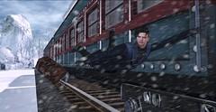 Casi pierdo el tren (Sebastriano) Tags: christmas navidad invierno winter cold frio secondlife sl guy male men man boy nieve snow 2020
