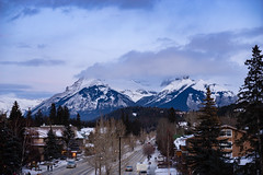 Banff Avenue (Kevin VanEmburgh Photography) Tags: alberta banff canada explore kevinvanemburghphotography ontheroad rockies sony travel mountains mountainsandclouds town avenue banffavenue rockymountains