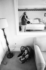 (patrickjoust) Tags: vertical konica hexar rf voigtlander colorskopar 21mm f4 kentmere 400 developed xtol 12 35mm black white bw home develop expired film leica m mount rangefinder cv cosina 21 wide angle lens adapter m39 screw blancetnoir blancoynegro schwarzundweiss manual focus analog mechanical patrick joust patrickjoust usa us united states north america estados unidos selfportrait me geneva baby girl kid child hotel room reflection mirror stowe vermont vt new england lamp couch bed