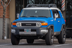 2007 Toyota FJ Cruiser (mlokren) Tags: 2019 car spotting photo photography photos pic picture pics pictures pacific northwest pnw pacnw oregon usa vehicle vehicles vehicular automobile automobiles automotive transportation outdoor outdoors 2007 toyota fj cruiser suv blue