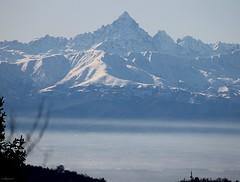 monviso (archgionni) Tags: montagne mountains alpi piemonte neve snow panorama landscape ambiente environment pianura nebbia fog cielo sky torino italy