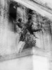 Caffenol & multi-expo: Løvejæger (Lars_Holte) Tags: pentax 645 pentax645 645nii 6x45 smcpentaxfa 75mm f28 120 film 120film analog analogue foma fomapan200 200iso caffenolcm mediumformat blackandwhite classicblackwhite bw monochrome filmforever filmphotography ishootfilm larsholte homeprocessing multiexpo multiexposure berlin germany deutschland sculpture