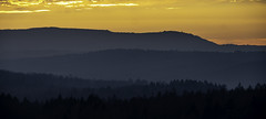 Sunset (Deepmike70) Tags: sunset landscape panorama sonnenuntergang hill hügel nebel fog mist