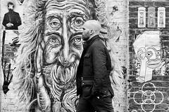 Eye Level.... (markwilkins64) Tags: bricklane london streetphotography street candid blackandwhite monochrome mono bw streetart markwilkins