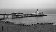 Eastbourne Pier in black & white (amanda & allan) Tags: eastbournepier pier eastbourne eastsussex southcoast england sea eveninglight dome blackwhite monochrome