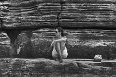 Elegancia natural (Kasabox) Tags: ibiza eivissa summer estiu verano mujer woman eros love amor relax paz peace natura naturaleza nature piedra stone roca bn bw black white blanco negro
