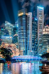 Beams of Wonder (Ashley Matthew Teo) Tags: singapore urban landscape cityscape buildings lights dreamscape
