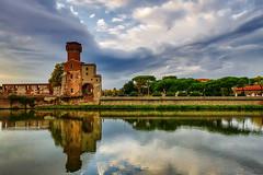La Cittadella di Pisa - The Cittadella of Pisa (Eugenio GV Costa) Tags: approvato lungarno pisa fiume arno toscana acqua water river streets outside cittadella