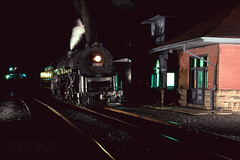 2102 After Dark With Electronic Flash (DJ Witty) Tags: readinglines railroad n8008 kodachrome64 rr photography rdgt1 steamlocomotive train 484