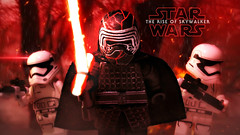 LEGO Star Wars : The Rise of Skywalker - Kylo Ren Preview (MGF Customs/Reviews) Tags: lego star wars the rise skywalker kylo ren custom minifig minifigure figure fan art painted diy adam driver