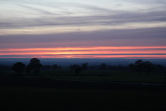 Lines (mamalaas) Tags: sky ciel nuage clouds lines lignes soleil sunset dark sombre mayenne rose jaune rouge yellow red