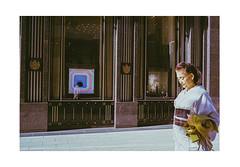 Luxury Shopping (James Eleftherion) Tags: leica kodak homedeveloped c41 expired tetenal fujifilm frontier sp500 filmshooter filmcamera buyfilmnotmegapixels 35mmfilm analog geometry lines portrait portra observations beliveinfilm filmisnotdead lensculture homes film vividcolor iso400 sunny afternoon sunday m3 japan ginza lomo brown geisha kimono fancy reflections handbag highclass tokyo 50mm 35mmlens 35mm