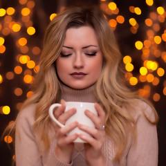 Coffee time ... (liofoto) Tags: bokeh frenchmodel frenchgirl beautifulgirl beauty beauté make up fashionmodel fashion
