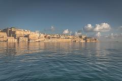 Golden City II (biktoras07) Tags: lavalletta malta europa sea clouds sky blue mediterranean port harbor golden city town capita architecture outdoor nopeople victorsantos