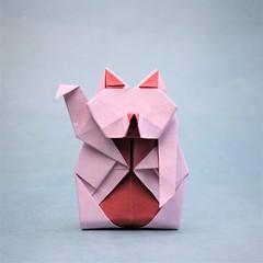 Lucky Cat - Oriol Esteve (pierreyvesgallard) Tags: origami lucky cat oriol esteve maneki neko papercraft