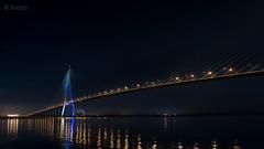 Pont de Normandie - 01 (Sohmi ︎) Tags: normandie pont bridge nuit night architecture france french landscape normandy honfleur tamronsp2470mm nikond810 ©sohmi sohmi seinemaritime calvados