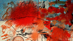 When Your Name Is On The Wall (Alfred Grupstra) Tags: backgrounds red abstract dirty paint textured illustration pattern grunge stained damaged old weathered colorimage texturedeffect scratched colors paintedimage multicolored messy
