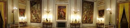 HD Panorama, Hanging Tapestries and Oil Paintings, Palacio Real de Madrid (Royal Palace), Madrid, Spain