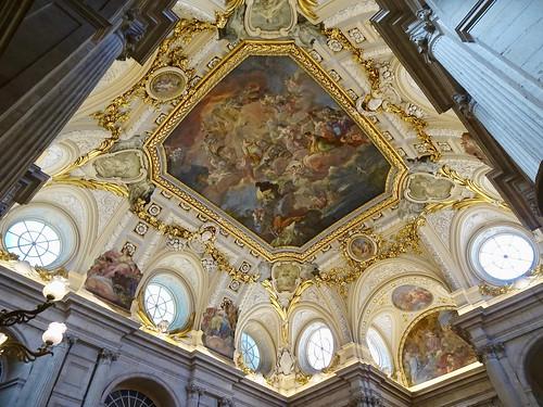"""Religion Protected by Spain"" Ceiling Fresco by Corrado Giaquinto, Palacio Real de Madrid (Royal Palace), Madrid, Spain"