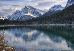 Mount Patterson and the Waputik Range Reflections in Lower Waterfowl Lake (PhotosToArtByMike) Tags: waterfowllakes mountpatterson waputikrange banffnationalpark lowerwaterfowllakes canadianrockies icefieldsparkway rockymountains banff albertacanada mountain mountains alberta saskatchewanrivercrossing