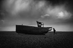 nothing lasts (stocks photography.) Tags: michaelmarsh leica photographer photography dungeness bw beach seaside coast boat nothinglasts
