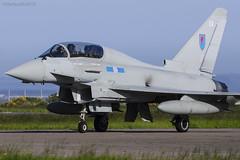 Royal Air Force, Typhoon T.3, ZK381 / EX. (M. Leith Photography) Tags: raf leuchars fife scotland scottish canopeners sqn 6 typhoon royal air force eurofightertyphoon t3 ex mark leith photography markleithphotography nikon d7000 nikkor sunshine aircraft fastjets fast jet aviation military