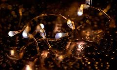 Christmas lights (*Millie*) Tags: lucesdenavidad christmaslights string led lights mini bokeh reflection metal cap canoneosrebelt6i ef100mmf28lmacroisusm milliecruz lcof macro glow warm copper lookingcloseonfriday atsh