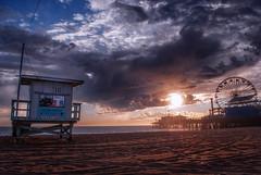 One Minute Rain (S|M) Tags: high dynamic range hdr nikon d60 1855mm santa monica beach pier ferris wheel clouds rain sand pacific ocean sea seascape people travel sun sky los angeles ca california la