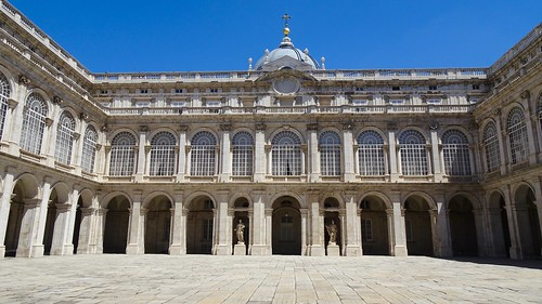 Prince's Courtyard, Palacio Real de Madrid (Largest Functioning Royal Palace in Europe), Madrid, Spain