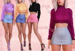 New release + GIVEAWAY!! (closed) (Safira | NiahRen) Tags: giveaway free fatpack sweater skirt denim knit