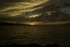 Dragon's Teeth Out of Camera No edit (9461) ((8_8)) Tags: maui dragonsteeth makaluapunapoint sunset sun sunburst sunlight clouds cloudscape cloudy rocks lava lavarocks hawaii sonya7ii sonyvariotessartfe1635mmf4za unedited goldenhour