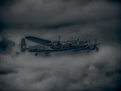 Night Time Raid (Frodingham Photographer) Tags: bbmf royalinternationalairtattoo aircraft riat2019 battleofbritainmemorialflight lancasterbomber raffairford airshow warbird