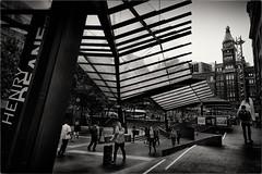 Henry's Walkway (Peter Polder) Tags: australia architecture buildings cityscape city cityview exterior cityscapes monochrome mono sydney street skyline town urban