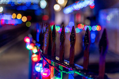 Festive Fence Friday (jillyspoon) Tags: hff happyfencefriday fencefriday fenced friday ff railings light bokeh christmas festive svr bridgenorth platform colourful colours shropshire