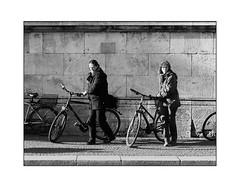 _HDA7719b (streetsbw) Tags: blackandwhite street bicycle fahrrad velo bicicleta women
