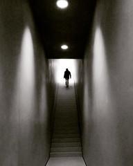 UPSTAIRS (bhs-photo) Tags: bnw schwarzweis monochrome noiretblanc shadowsandmoods kolumba museum cologne köln leica leicaq zumthor architecture minimal minimalism