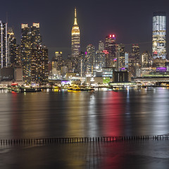 NYC - ESB - reflections (Notkalvin) Tags: hudsonriver river reflections reflect esb nyc empirestatebuilding newyork newyorkcity city skyscrapers tallbuilding architecture famousplace outdoors tall urban